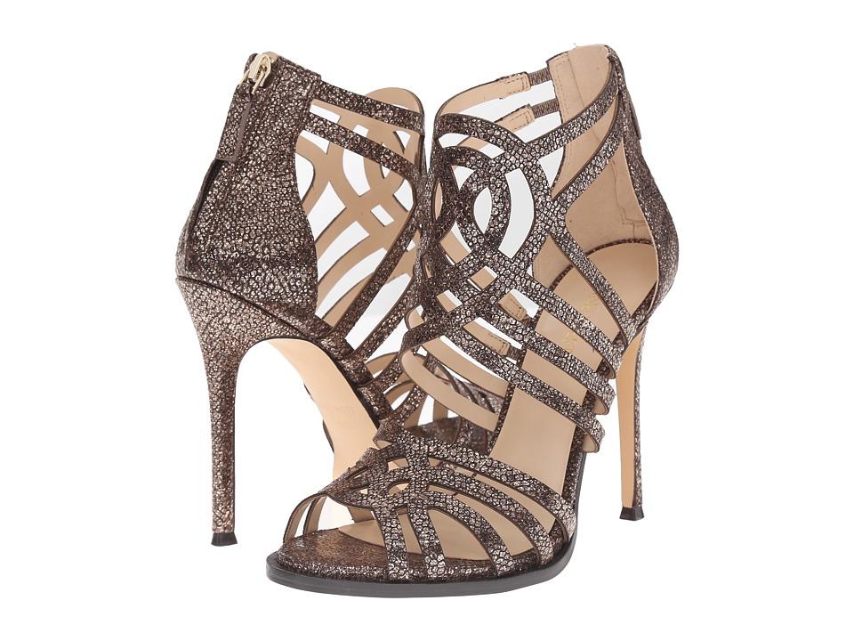 Nine West Hartthrob Brown Metallic High Heels