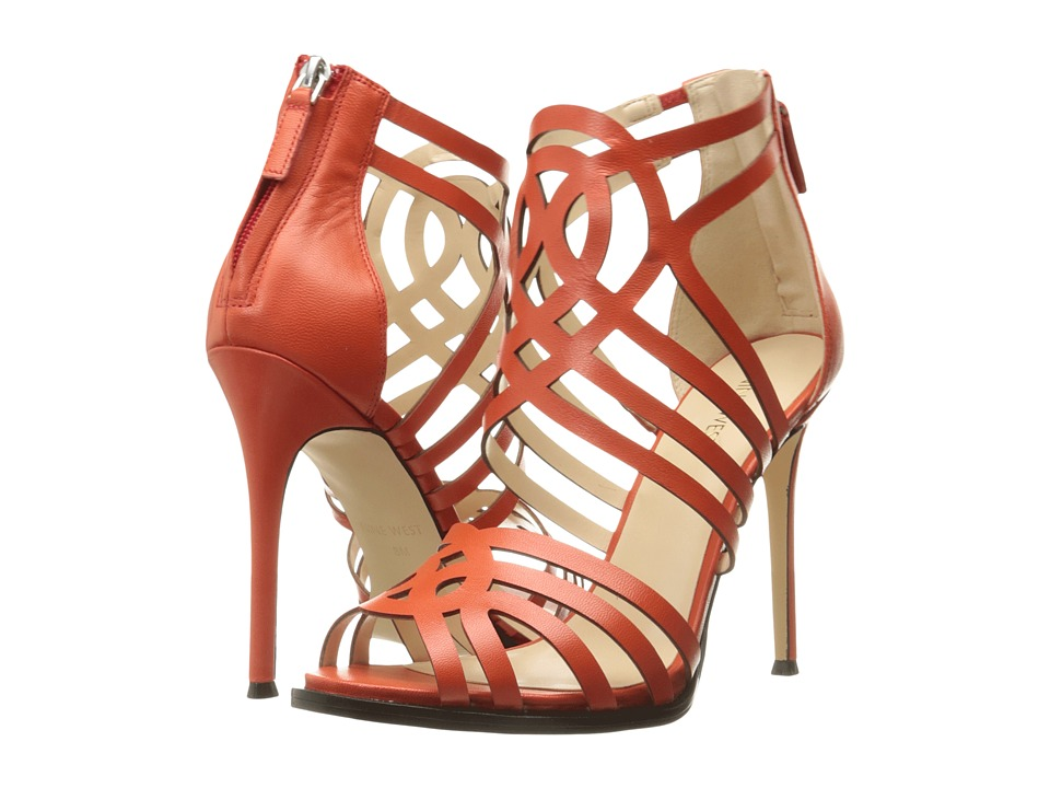 Nine West - Hartthrob (Red Orange Leather) High Heels