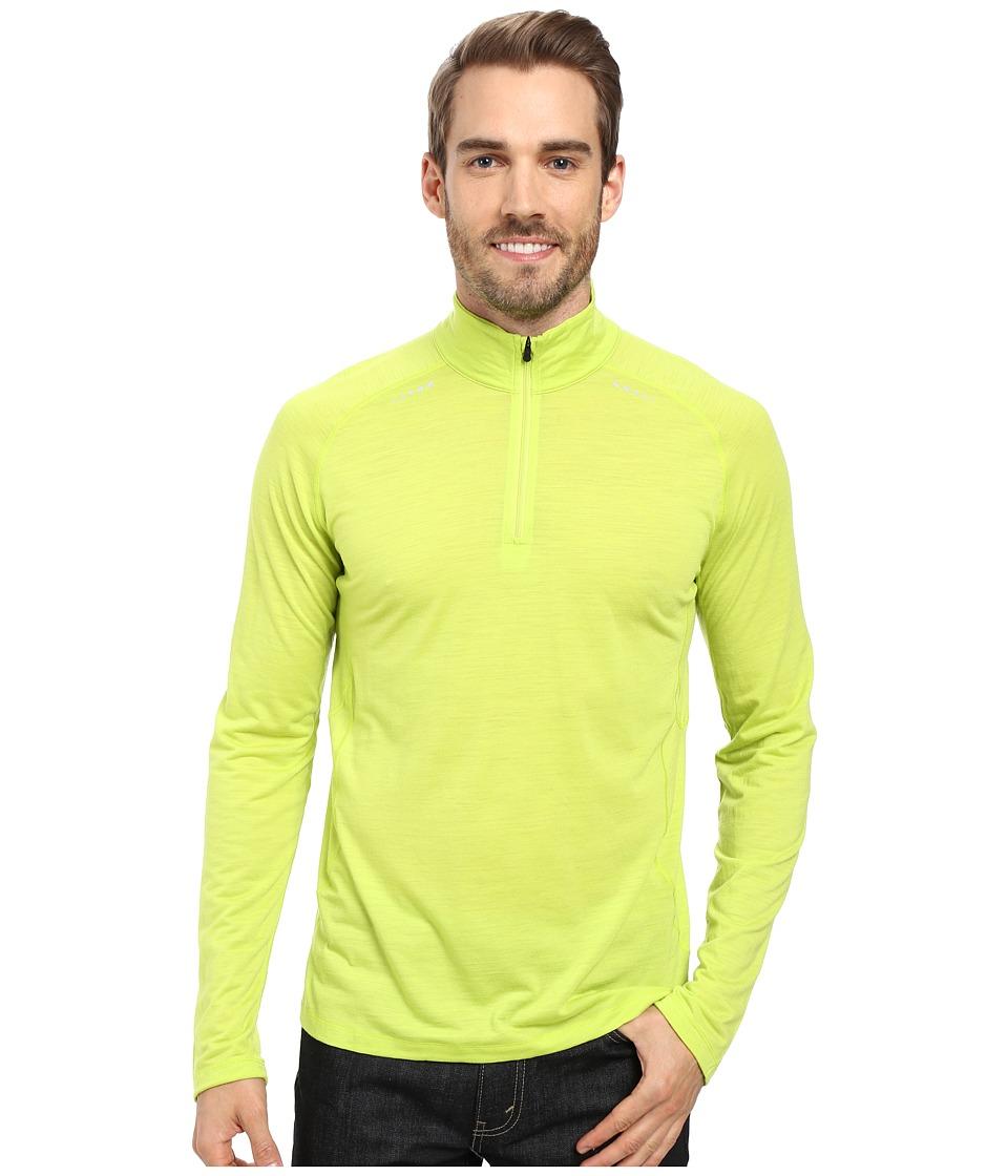 Smartwool - PhD Ultra Light Zip T (Smartwool Green) Men's Long Sleeve Pullover