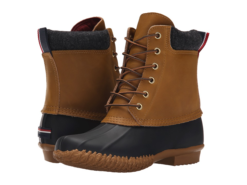Tommy Hilfiger - Russel (Brown Multi Leather) Women's Lace-up Boots