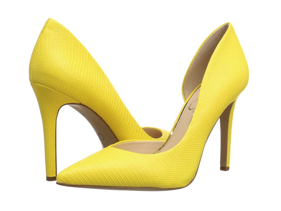 Jessica Simpson Claudette (Sour Lemon Bright Lizzard Print) High Heels