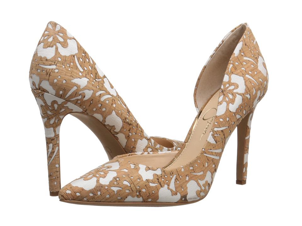Jessica Simpson - Claudette (Natural/White Floral Laser Cork) High Heels