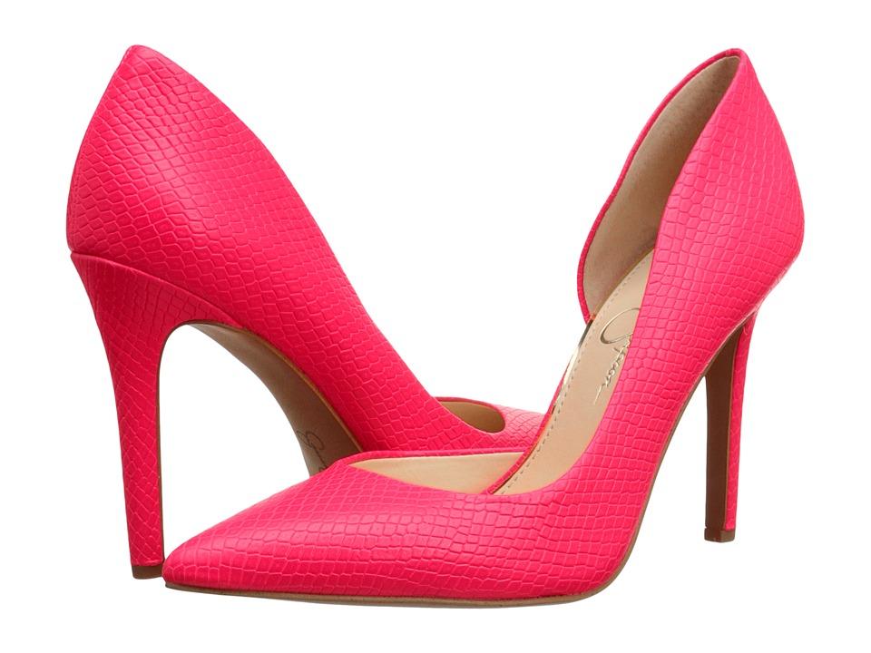 Jessica Simpson - Claudette (Laser Pink Embossed Reptile) High Heels