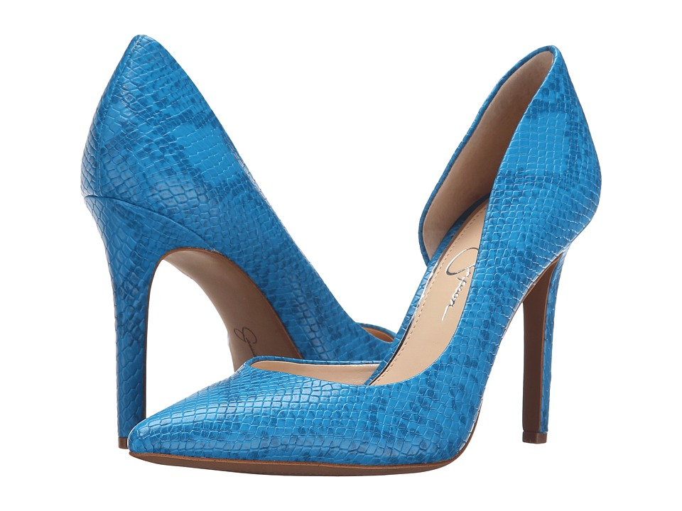 Jessica Simpson - Claudette (Cool Breeze Two-Toned Embossed Reptile) High Heels