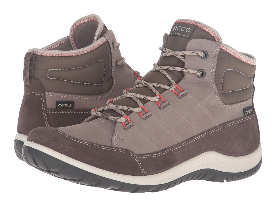 ECCO Sport - Aspina GTX High (Dark Clay/Warm Grey Sue/Yabuck) Women's Walking Shoes