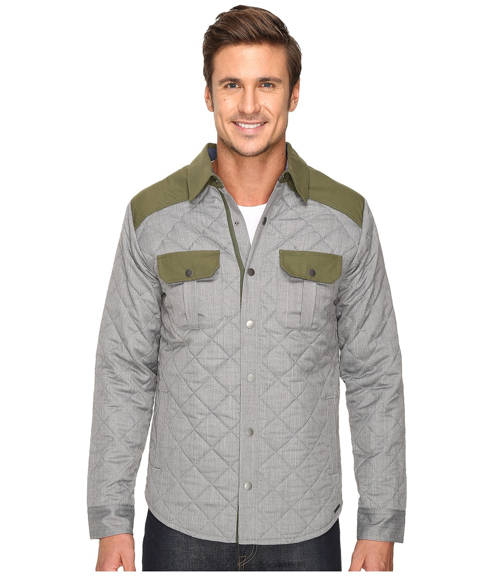 Smartwool - Summit County Quilted Shirt Jacket (Light Gray Heather) Men's Clothing