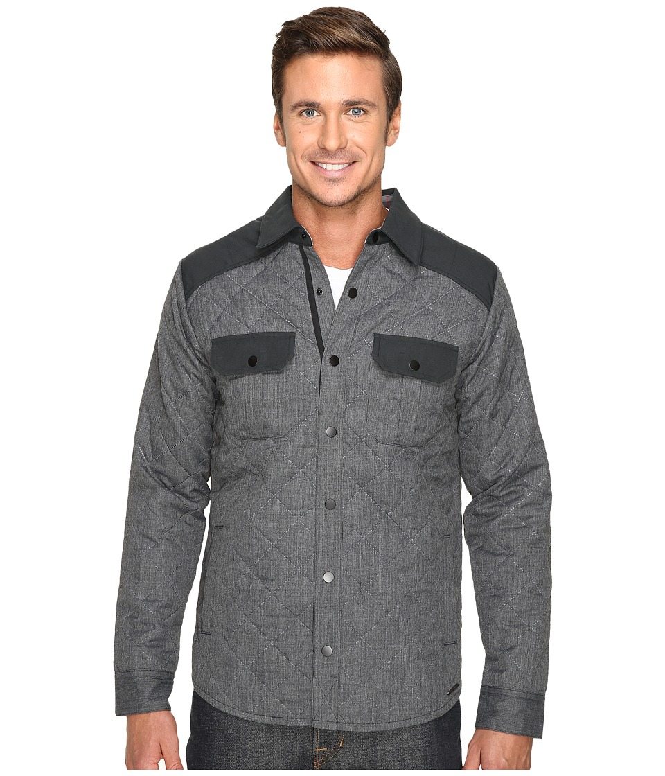 Smartwool - Summit County Quilted Shirt Jacket (Charcoal Heather) Men's Clothing