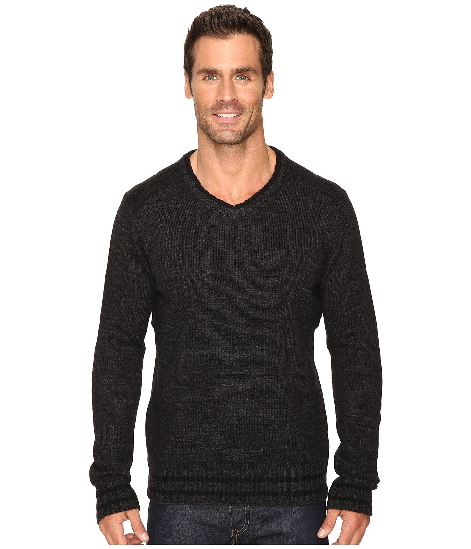 Smartwool - Larimer V-Neck Top (Charcoal Heather) Men's Long Sleeve Pullover