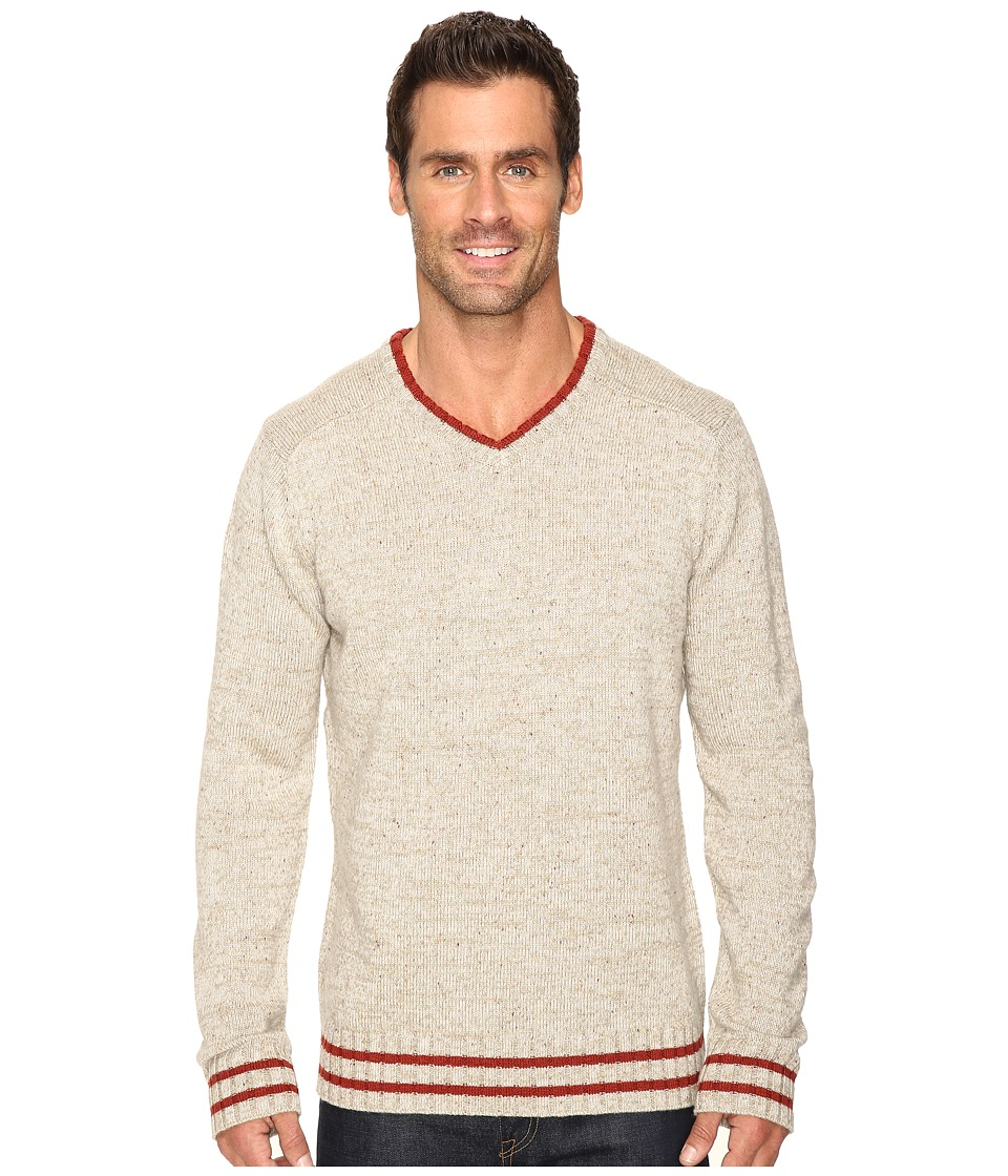 Smartwool - Larimer V-Neck Top (Oatmeal Heather) Men's Long Sleeve Pullover