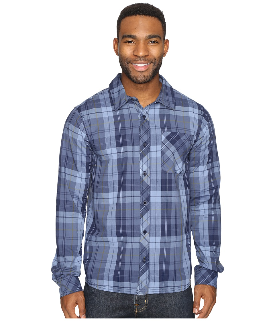 Smartwool - Summit County Plaid Long Sleeve Top (Deep Navy) Men's Clothing