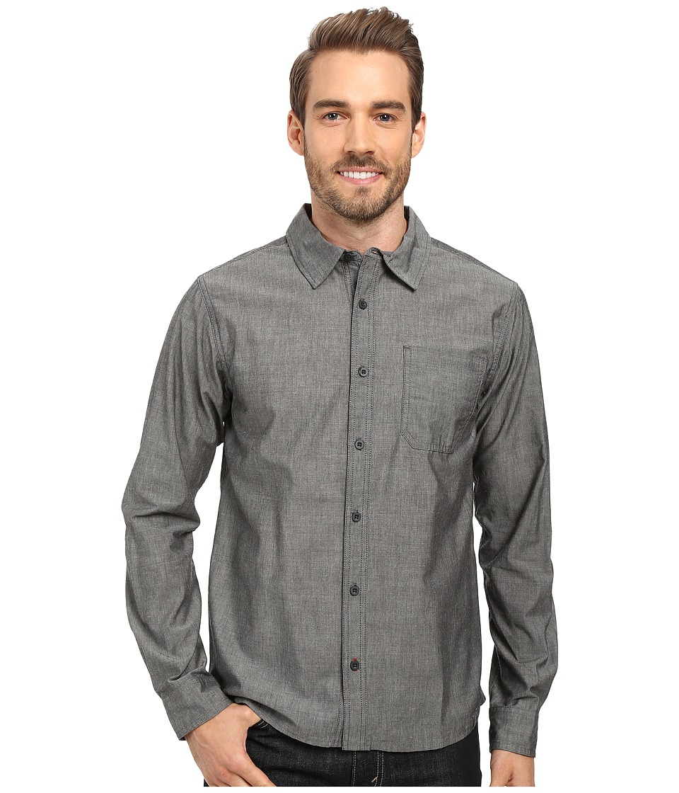 Smartwool - Summit County Chambray Long Sleeve Shirt (Charcoal) Men's Clothing