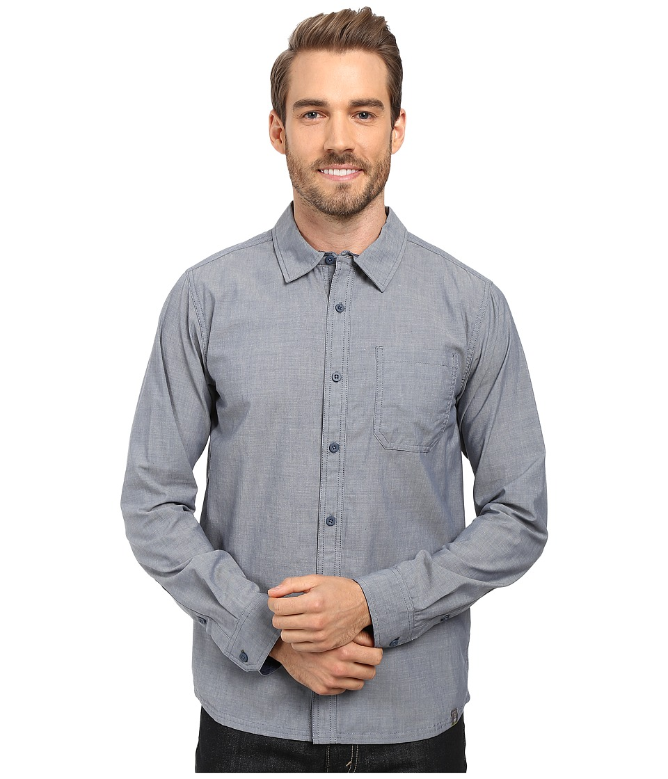 Smartwool - Summit County Chambray Long Sleeve Shirt (Dark Steel Blue) Men's Clothing