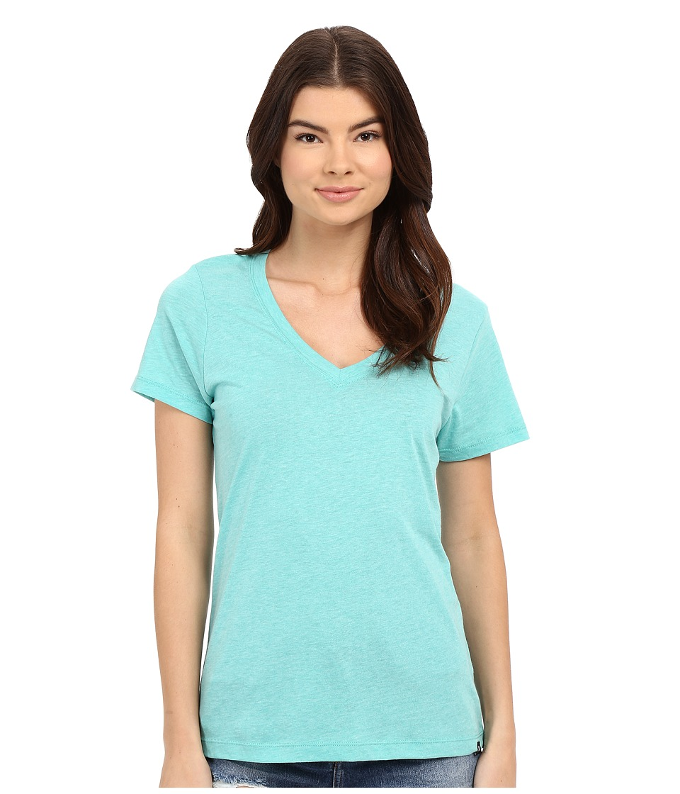 Hurley Staple Perfect V Tee (Heather Hyper Jade) Women