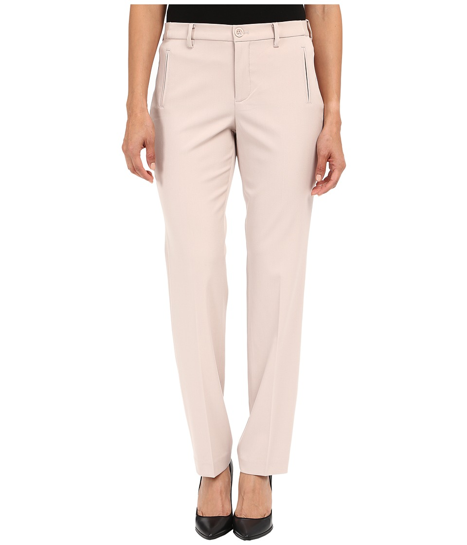 NYDJ Petite - Petite Sandrah Slim Trousers (Tan Memoir) Women's Casual Pants