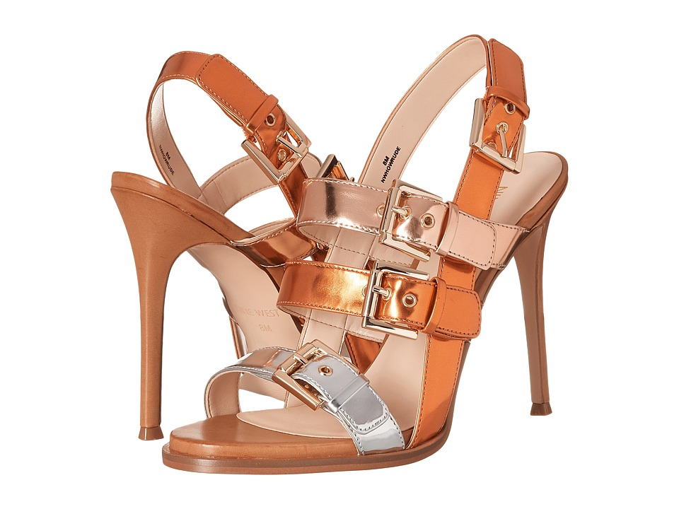 Nine West - Howrude3 (Orange Multi Synthetic) High Heels