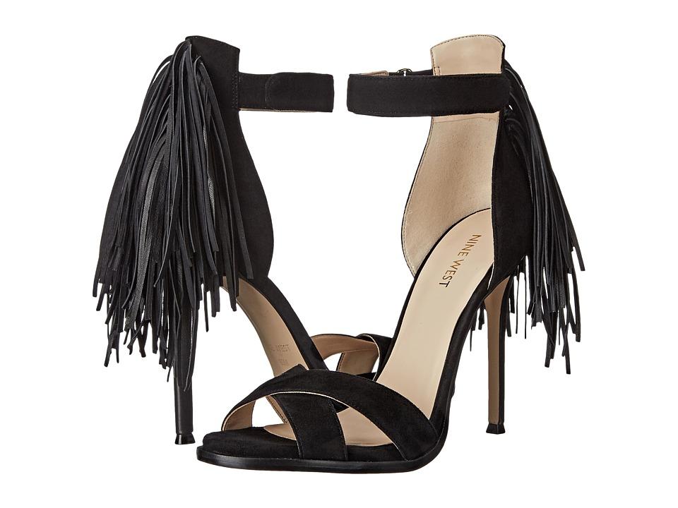 Nine West - Hustle (Black/Black Leather) Women's Shoes