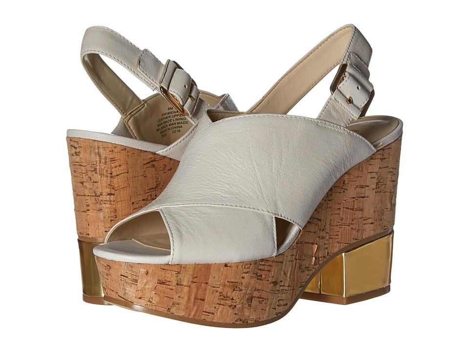 Nine West Imena Off-White Leather High Heels