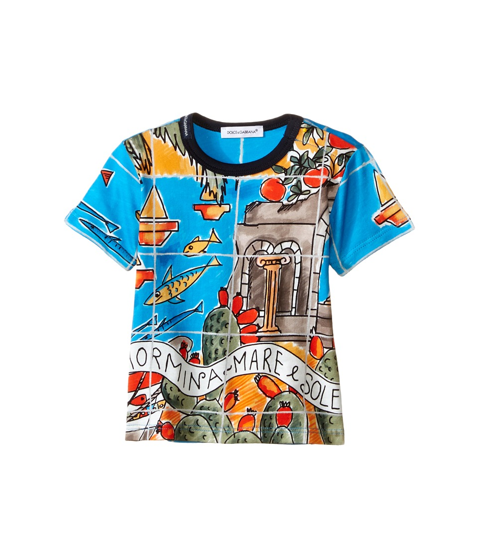 Dolce & Gabbana Kids - Taormina T-Shirt (Infant) (Aqua Print) Boy's Short Sleeve Pullover