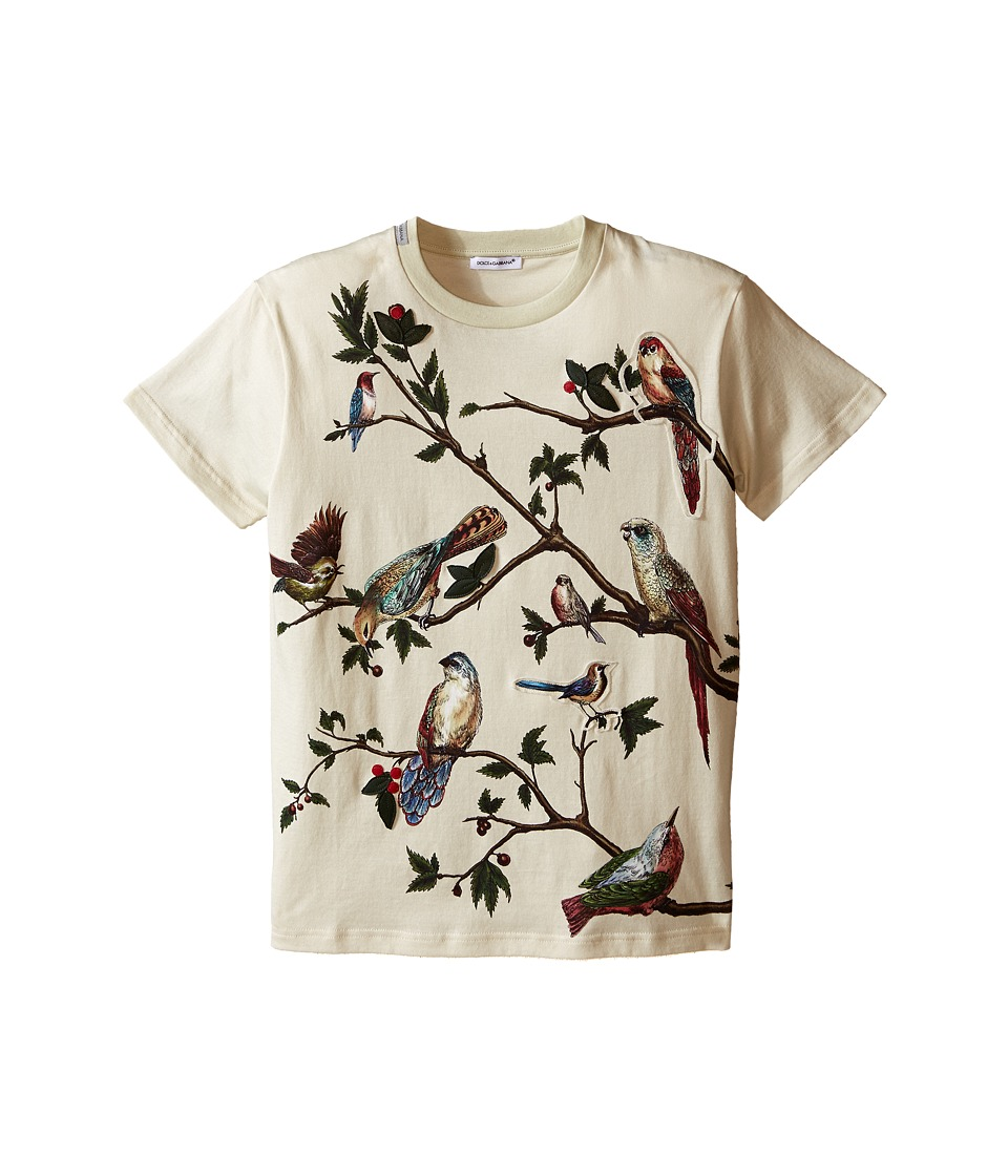 Dolce & Gabbana Kids - Tree Life T-Shirt (Big Kids) (Natural Print) Boy's Short Sleeve Pullover