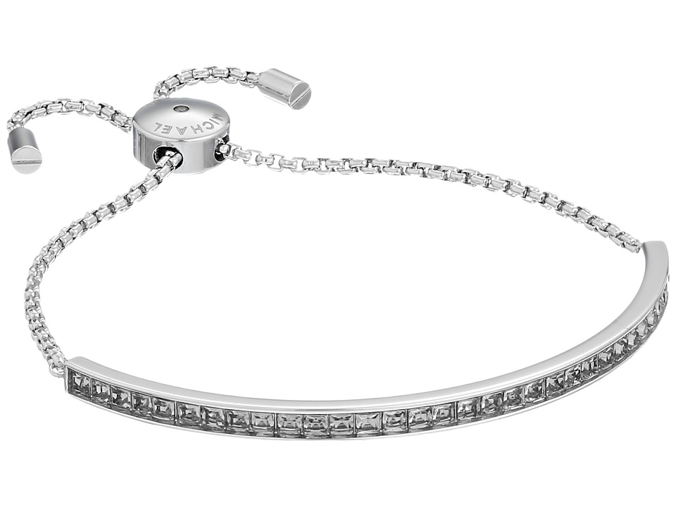 Michael Kors - Adjustable Slider Bracelet (Silver/Grey Cubic Zirconium) Bracelet