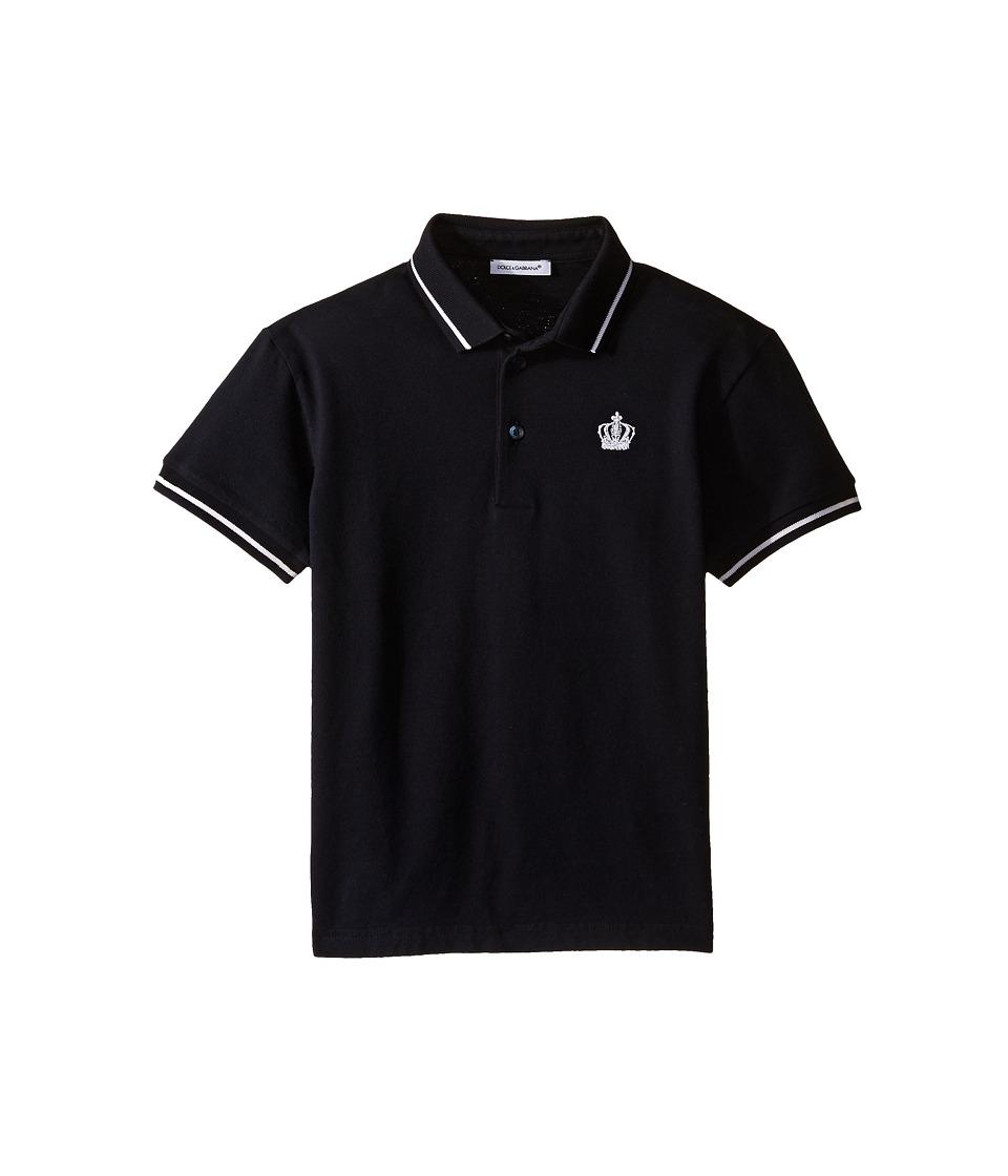 Dolce & Gabbana Kids - Crown Logo Polo (Toddler/Little Kids) (Dark Blue) Boy's Clothing
