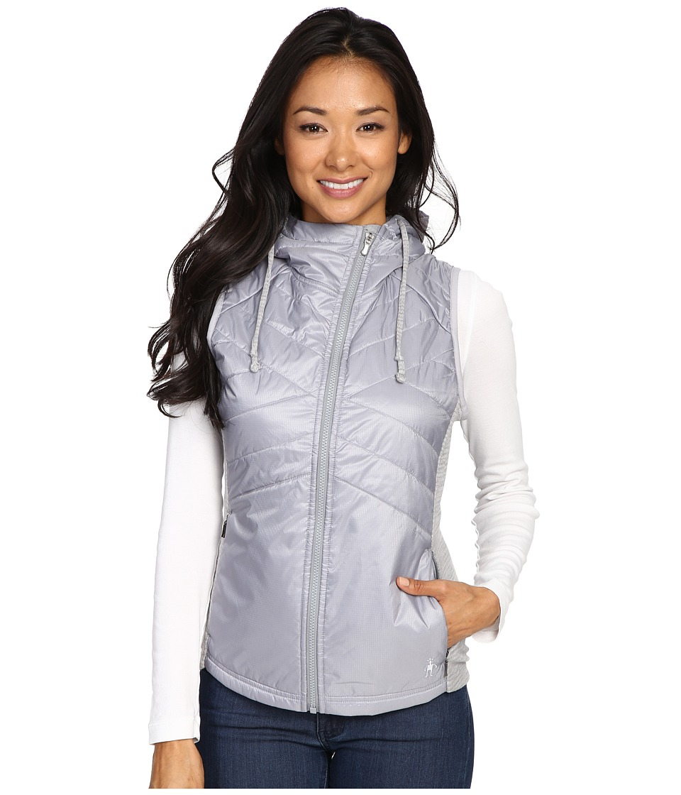 Smartwool - Double Propulsion 60 Hooded Vest (Silver) Women's Vest