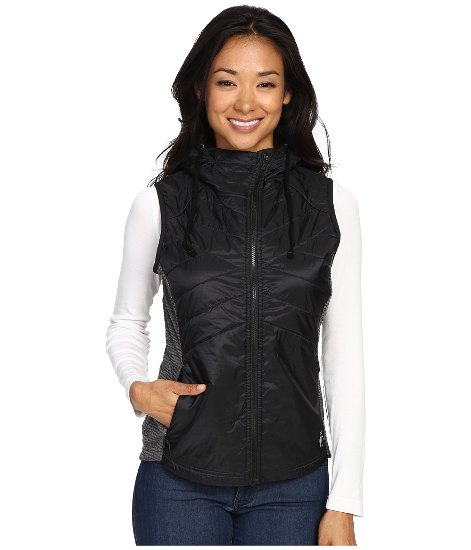Smartwool - Double Propulsion 60 Hooded Vest (Black) Women's Vest