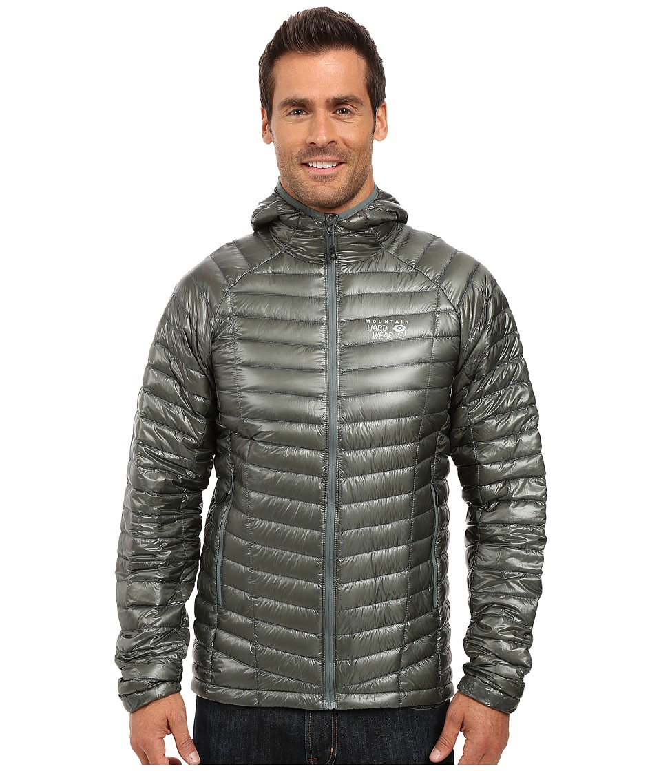 Mountain Hardwear - Ghost Whisperer Hooded Down Jacket (Thunderhead Grey) Men's Coat