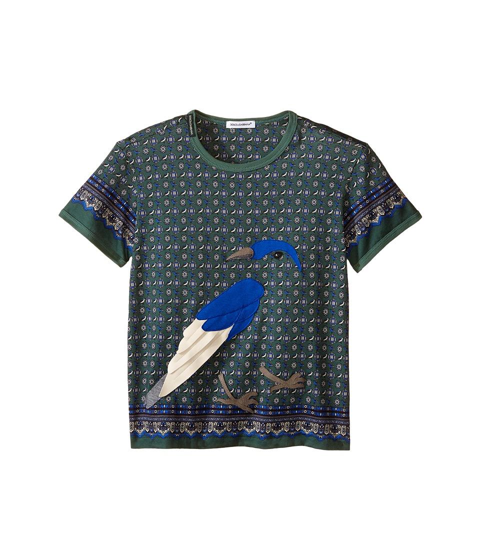 Dolce & Gabbana Kids - Uccelli T-Shirt (Toddler/Little Kids) (Green Print) Boy's Short Sleeve Pullover