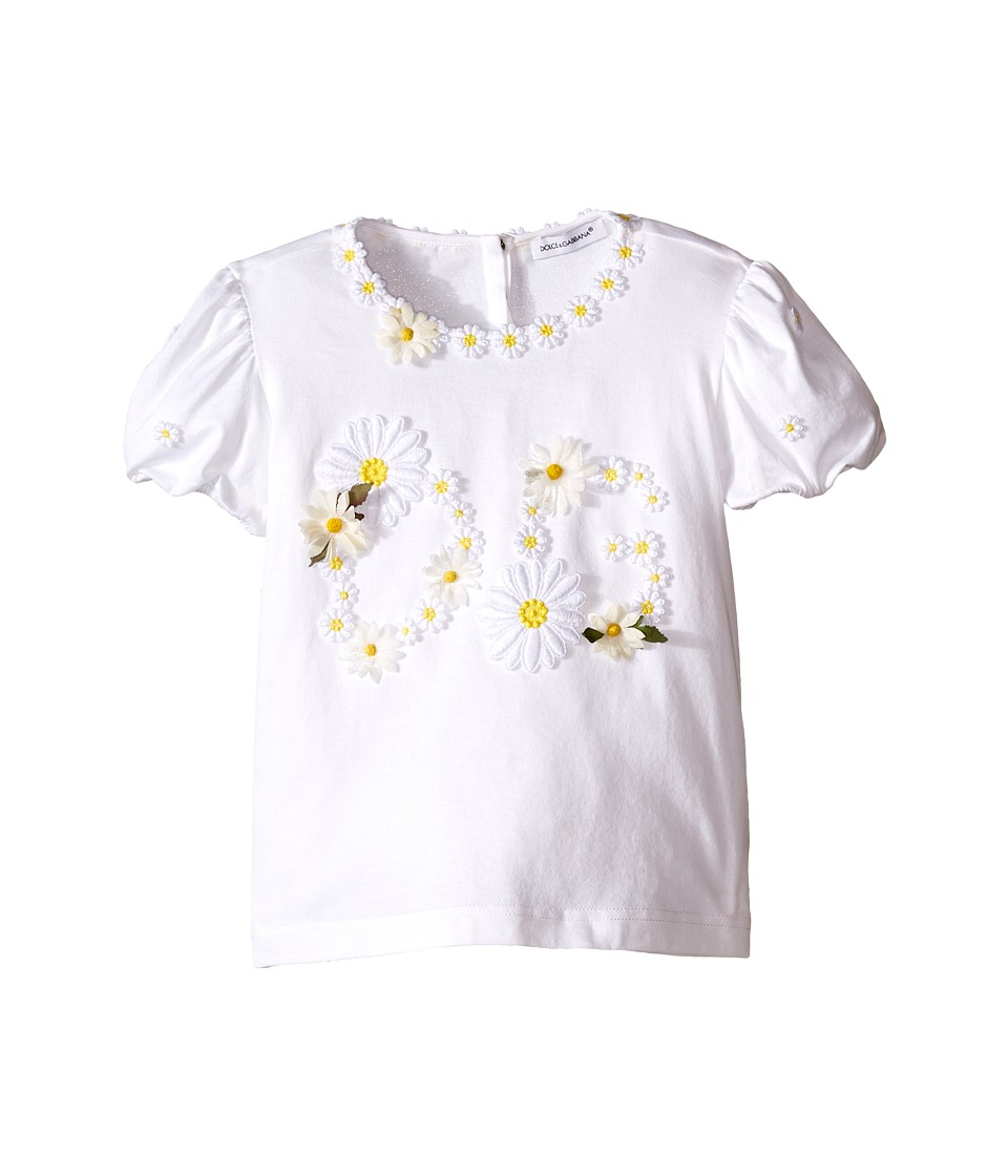 Dolce & Gabbana Kids - Floral T-Shirt (Toddler/Little Kids) (White Daisy) Girl's T Shirt