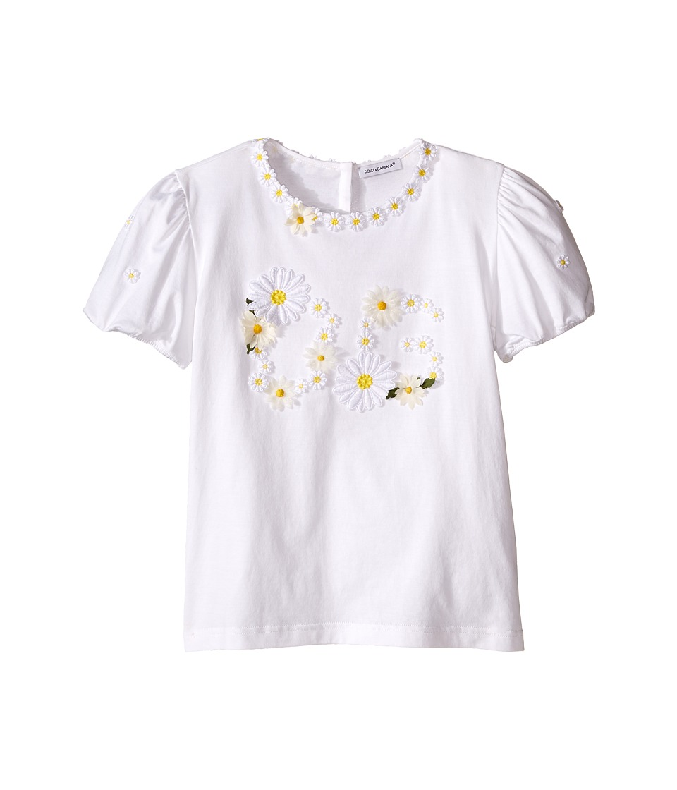 Dolce & Gabbana Kids - Floral T-Shirt (Big Kids) (White Daisy) Girl's T Shirt