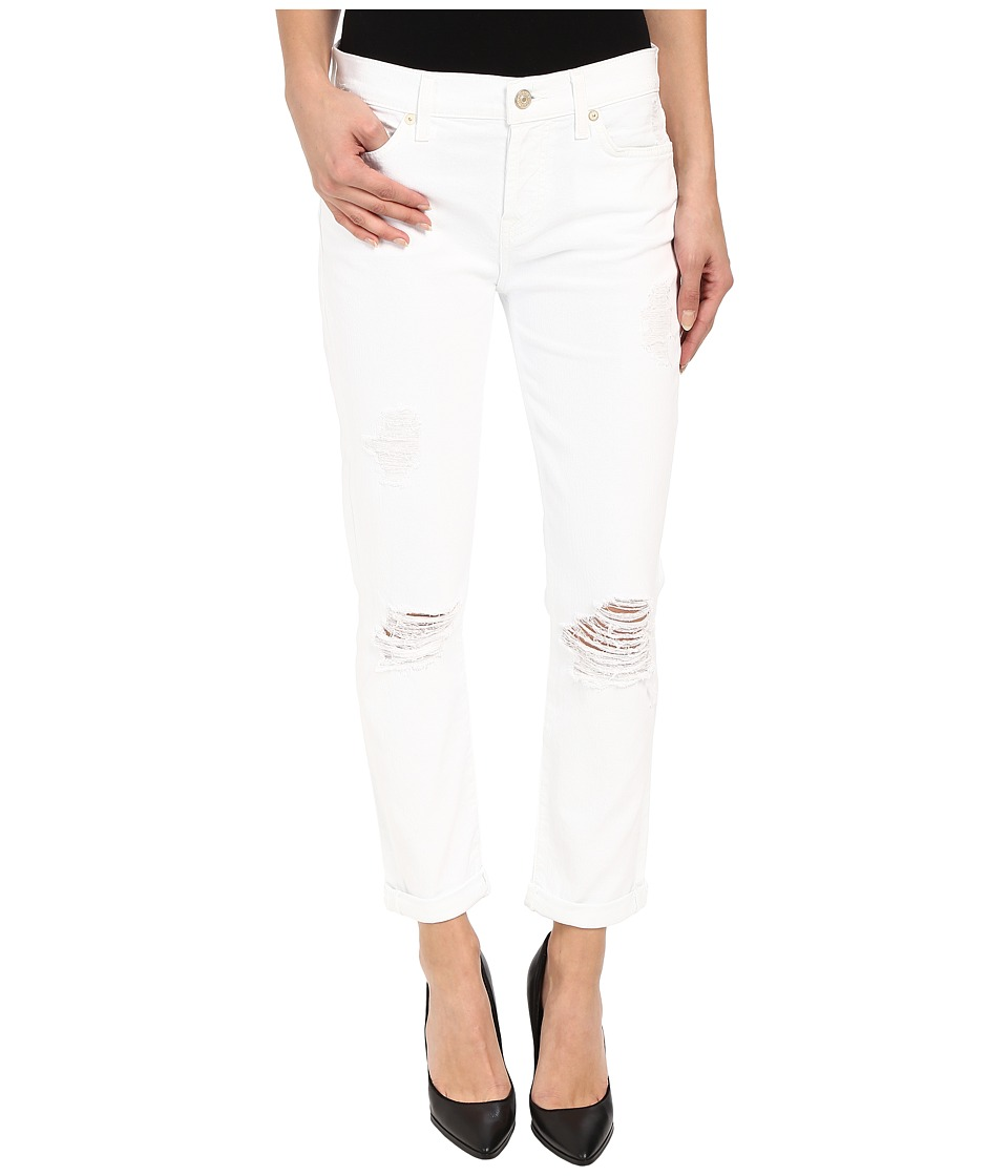 7 For All Mankind - Josefina w/ Destroy in Clean White 3 (Clean White 3) Women