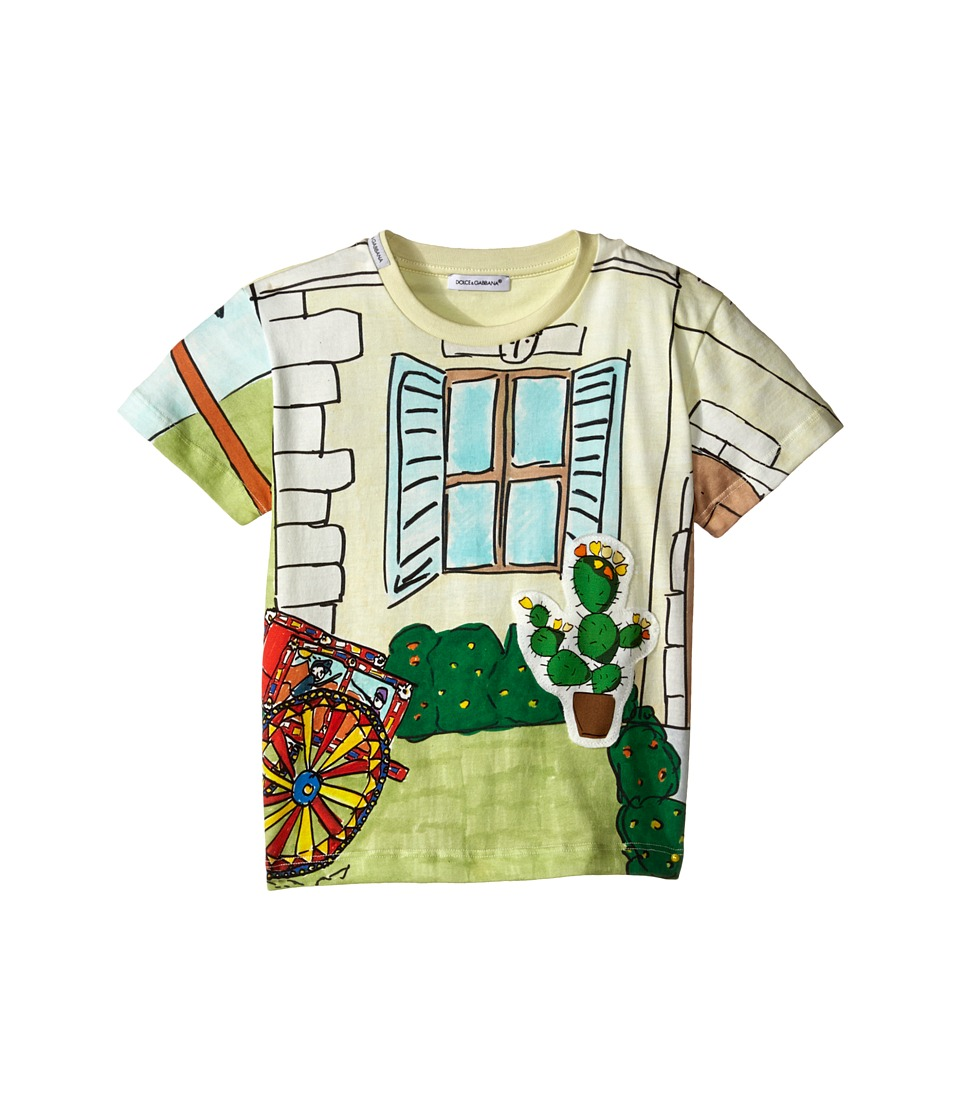 Dolce & Gabbana Kids - Cactus T-Shirt (Toddler/Little Kids) (Multi Print) Boy's Short Sleeve Pullover