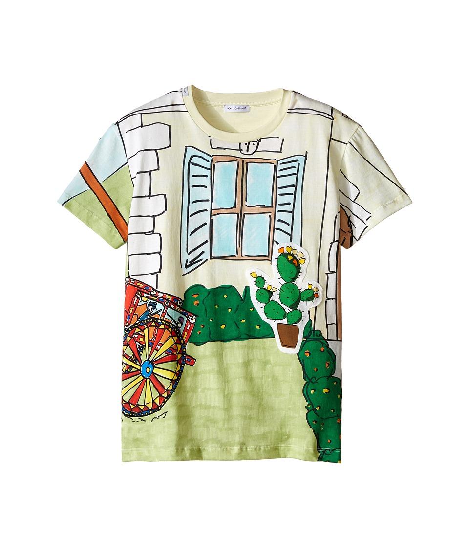 Dolce & Gabbana Kids - Cactus T-Shirt (Big Kids) (Multi Print) Boy's Short Sleeve Pullover