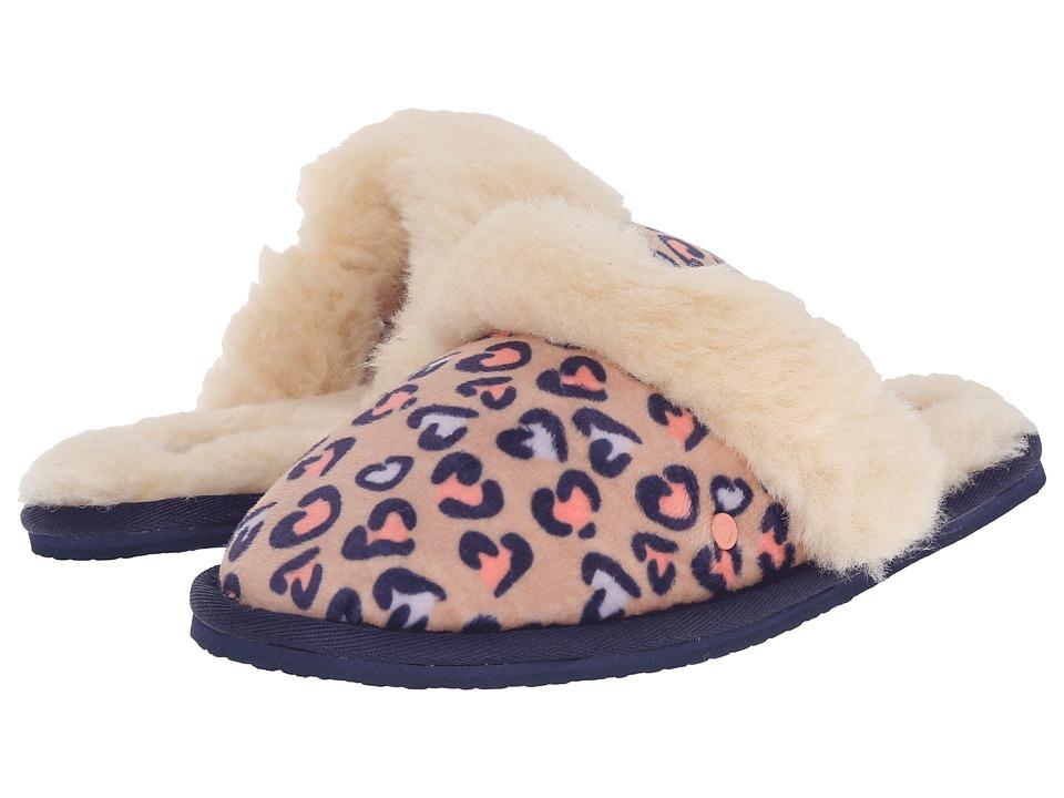 UGG Kids Finn Cheetah (Little Kid/Big Kid) (Sugar Cookie) Girls Shoes