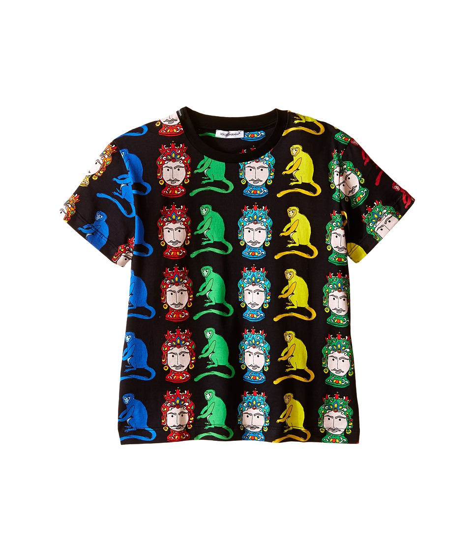 Dolce & Gabbana Kids - Multi Monkeys T-Shirt (Toddler/Little Kids) (Black Print) Boy's T Shirt