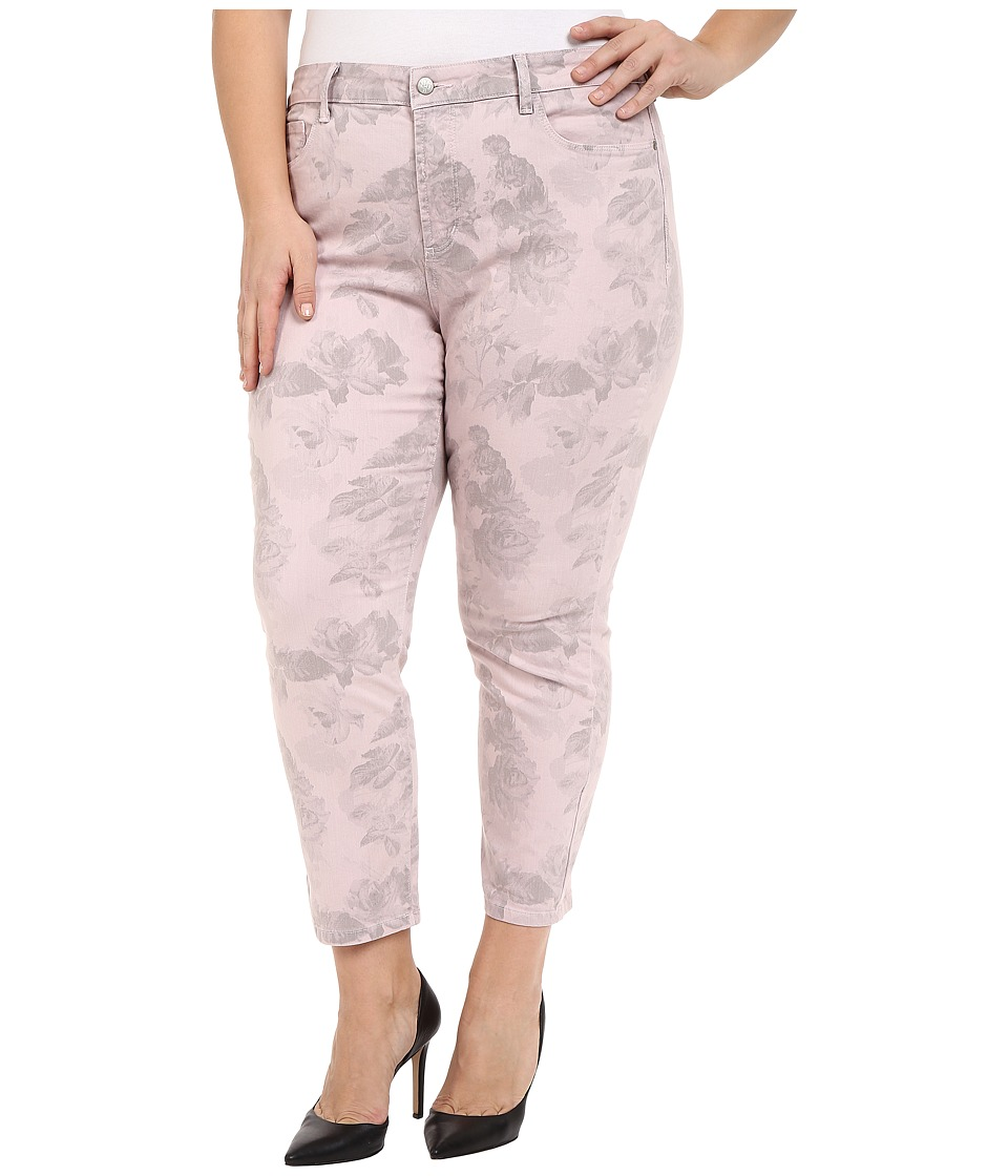 NYDJ Plus Size - Plus Size Ira Ankle in Pink Floral (Pink Floral) Women's Jeans