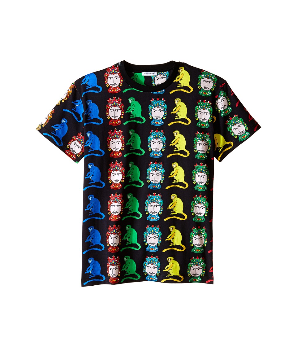 Dolce & Gabbana Kids - Multi Monkeys T-Shirt (Big Kids) (Black Print) Boy's T Shirt
