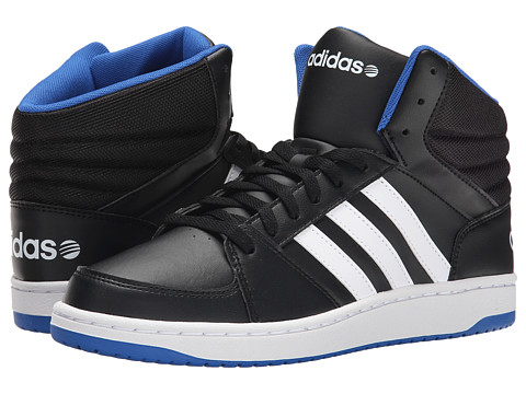 adidas - Hoops VS Mid (Black/White/Blue) Men's Shoes