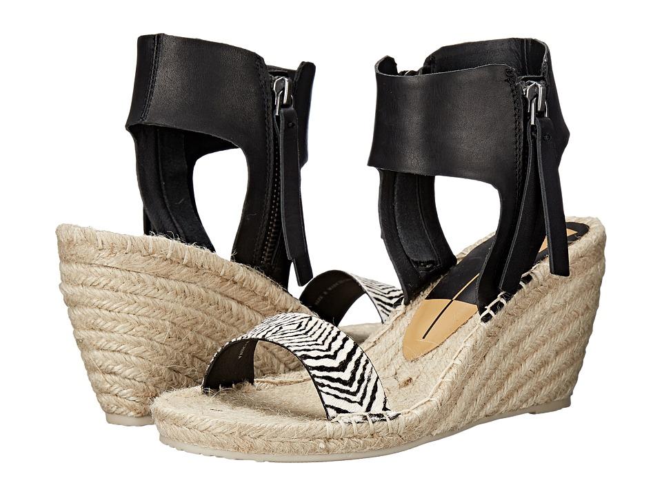 Dolce Vita - Gisele (Black/White Calf Hair) Women's Wedge Shoes