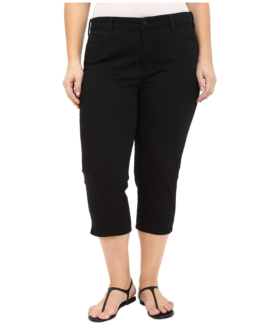 NYDJ Plus Size - Plus Size Ariel Crop w/ Slit in Black (Black) Women's Casual Pants