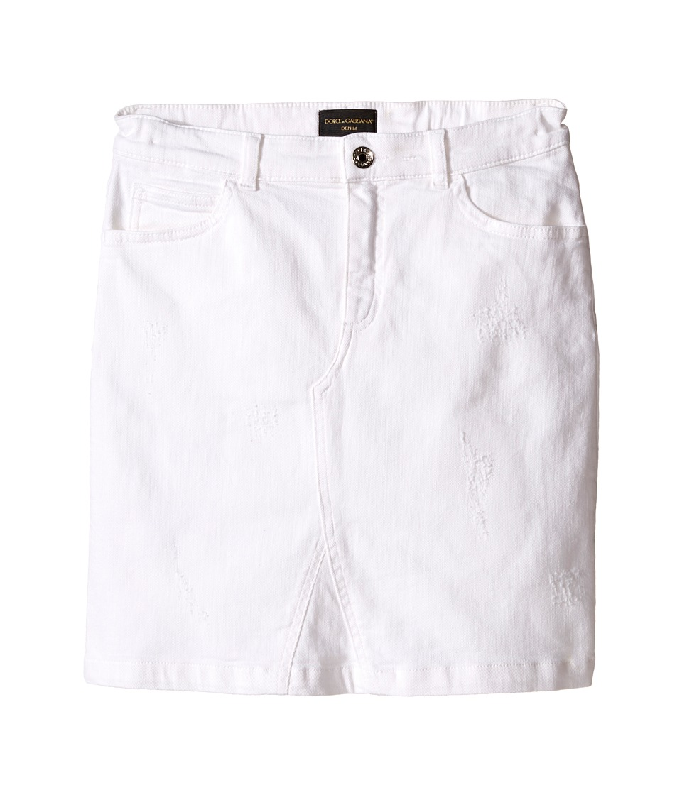 Dolce & Gabbana Kids - Denim Skirt (Big Kids) (Antique White) Girl's Skirt
