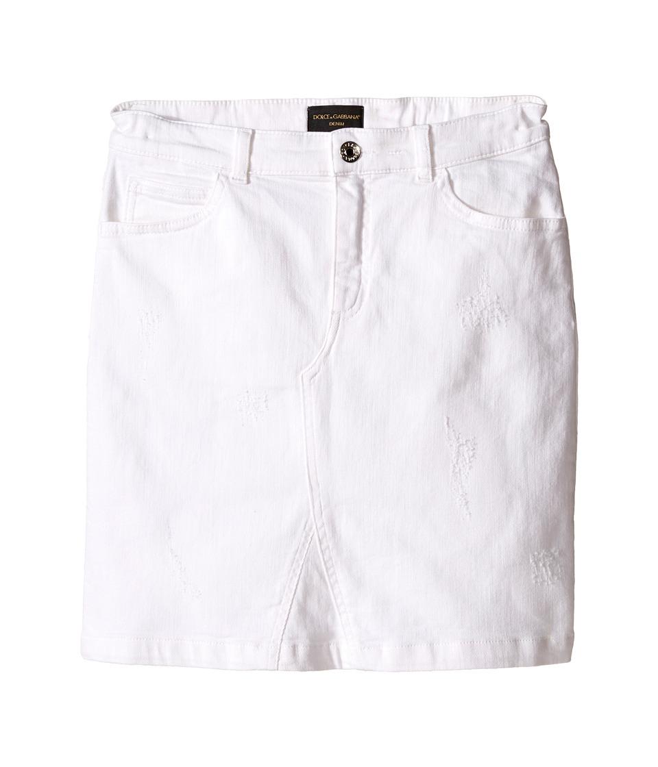 Dolce & Gabbana Kids - Denim Skirt (Big Kids) (Antique White) Girl's Skirt