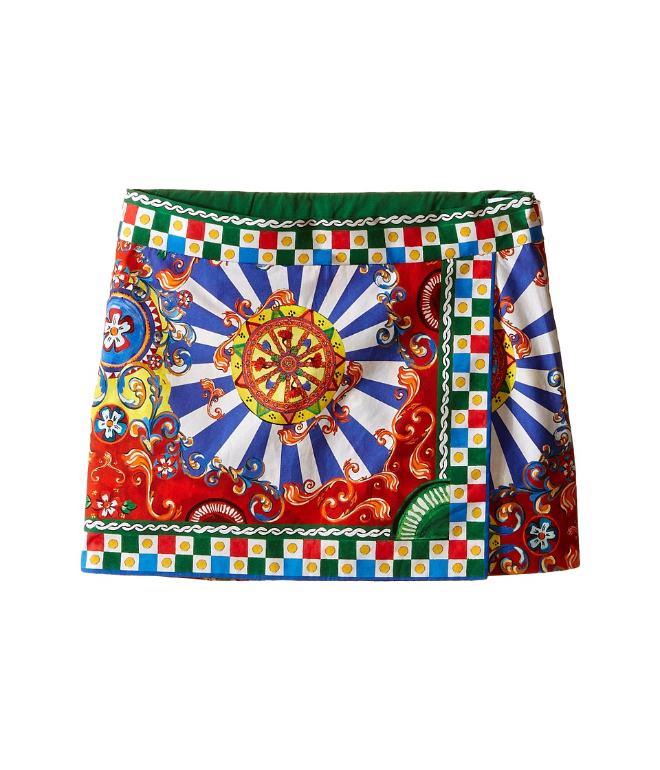 Dolce & Gabbana Kids - Wheel Skirt (Toddler/Little Kids) (Multi Print) Girl's Skirt