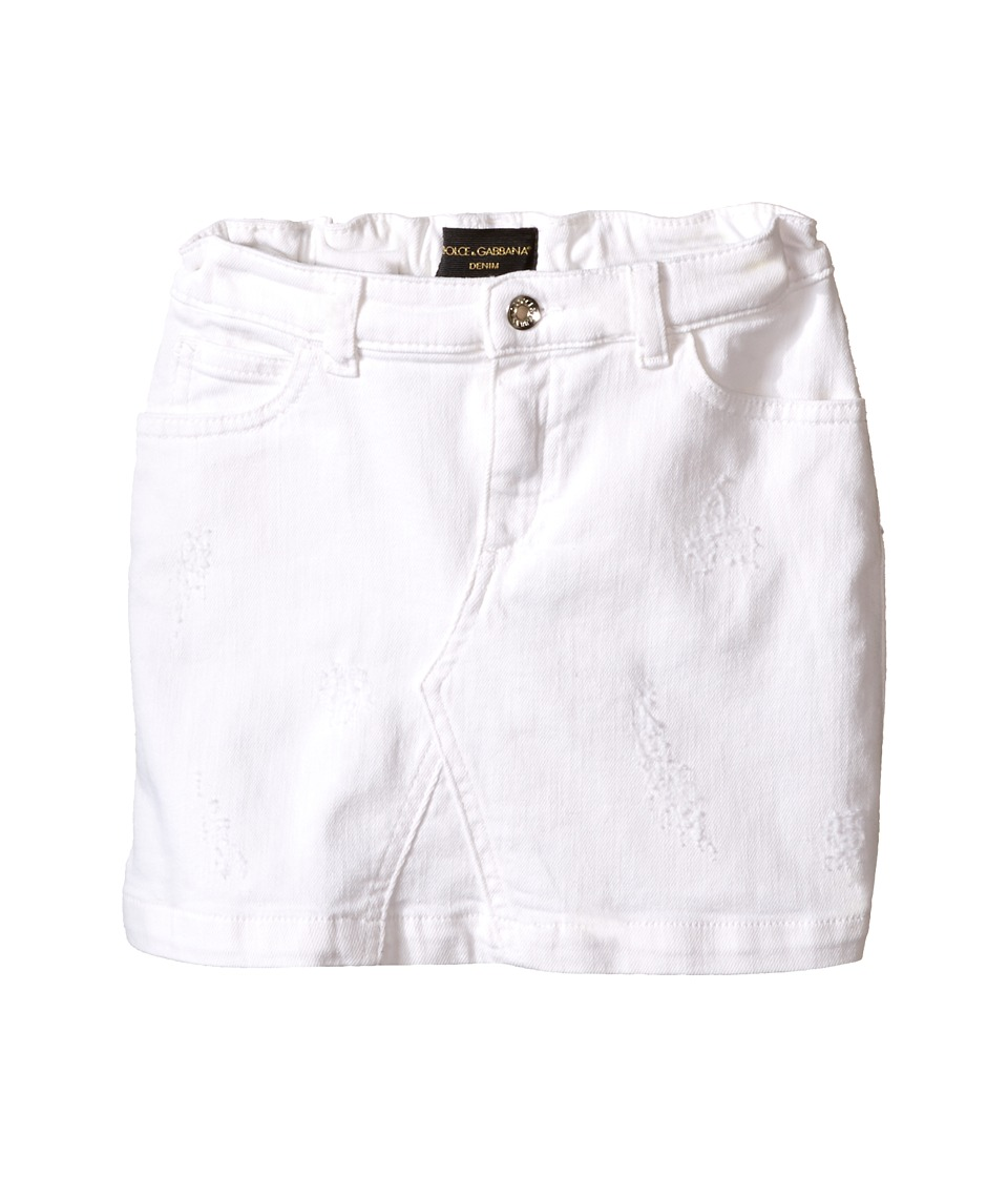 Dolce & Gabbana Kids - Denim Skirt (Toddler/Little Kids) (Antique White) Girl's Skirt