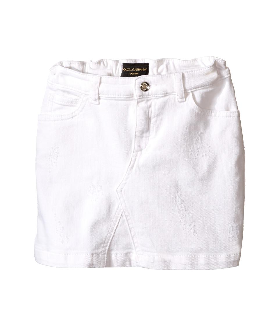 Dolce & Gabbana Kids - Denim Skirt (Toddler/Little Kids) (Antique White) Girl's Skirt