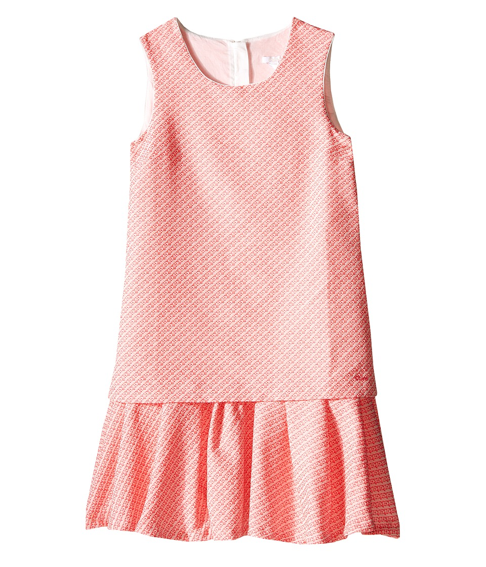 Chloe Kids - Fancy Tweed Dress (Big Kids) (Pink) Girl's Dress