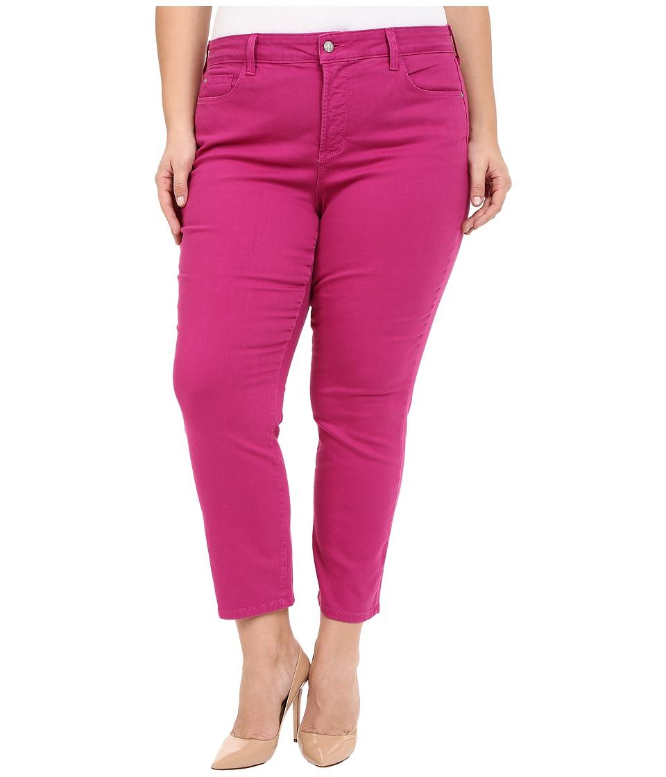 NYDJ Plus Size - Plus Size Ira Ankle in Vivid Raspberry (Vivid Raspberry) Women's Jeans