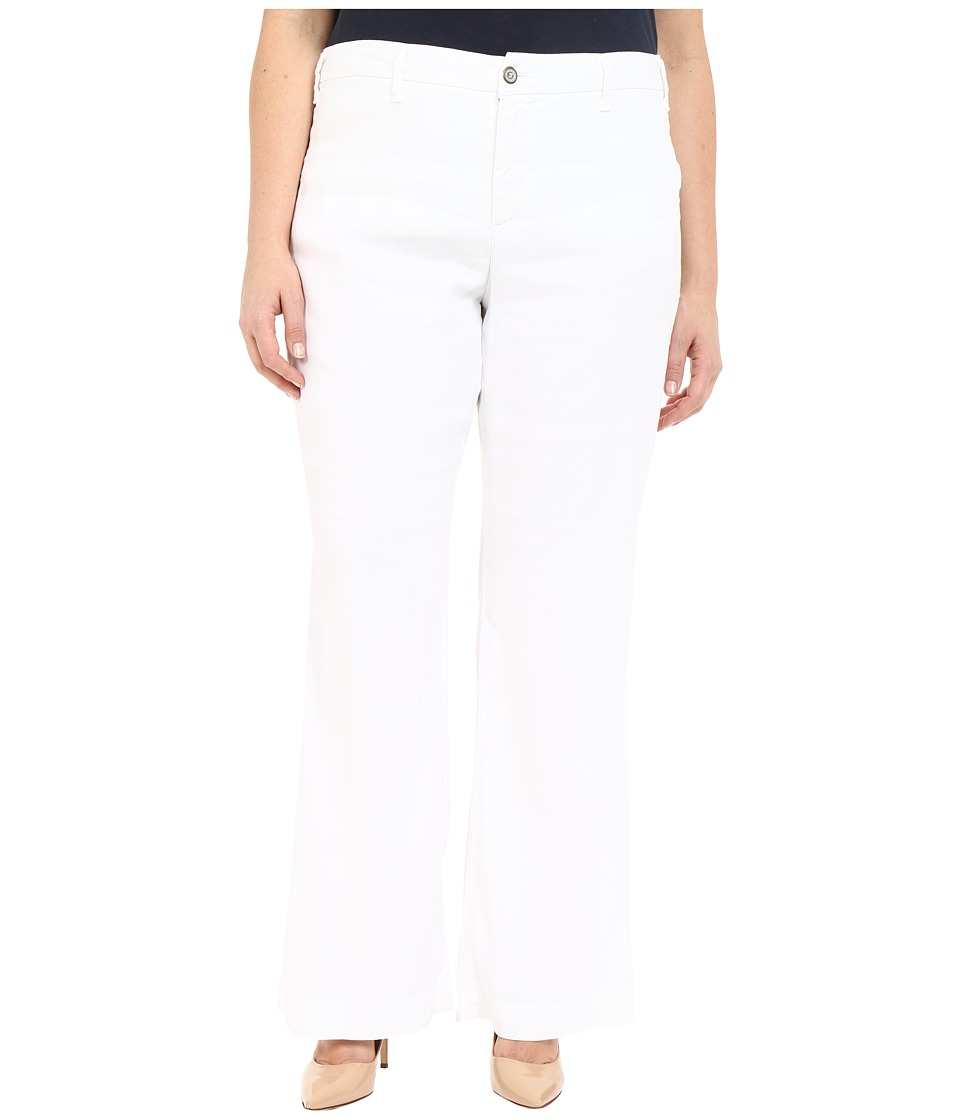 NYDJ Plus Size - Plus Size Claire Trousers (Optic White) Women's Casual Pants