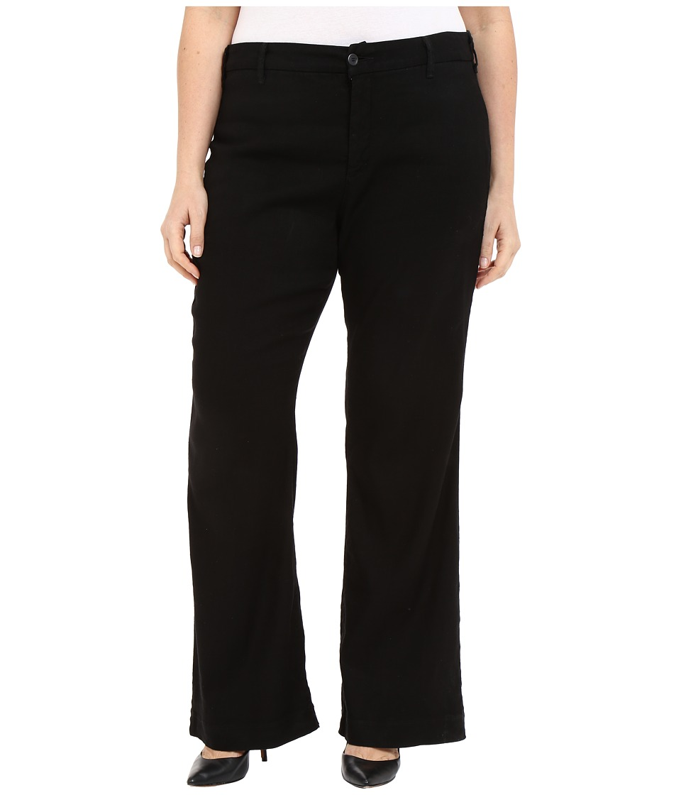 NYDJ Plus Size - Plus Size Claire Trousers (Black) Women's Casual Pants